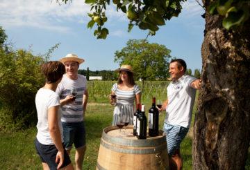 group tasting wine bordeaux