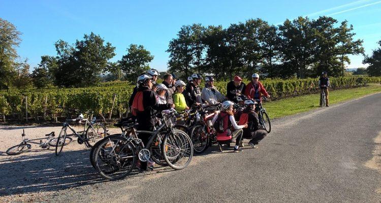 photos de promeneurs à vélo