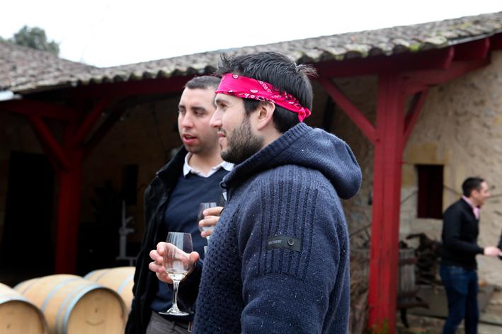 group tasting bordeaux
