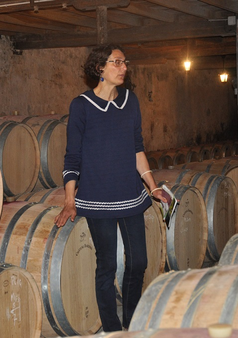 pascale larroche during the wine tour