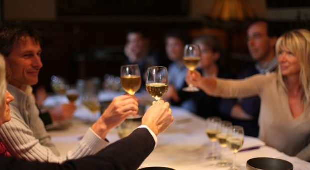 wine lovers tasting wines